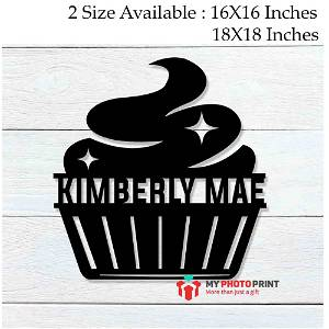 Customized Cupcake Name Wooden Wall Decoration