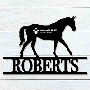 Customized Horse Name Wooden Wall Decoration
