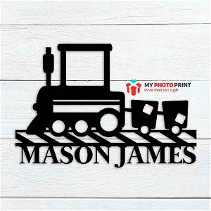 Customized Train Name Wooden Wall Decoration