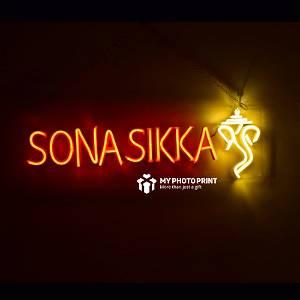 Custom Name With Ganesh Ji Led Neon Sign Decorative Lights Wall Decor