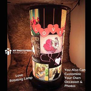 (Love) Rotating Lamp Customized / you can send photos via  WhatsApp also after order or query on whatapp