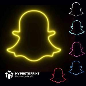 Neon Snapchat Logo Led Neon Sign Decorative Lights Wall Decor