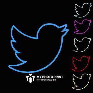 Neon Twitter Logo Led Neon Sign Decorative Lights Wall Decor