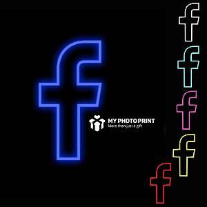 Neon Facebook Logo Led Neon Sign Decorative Lights Wall Decor