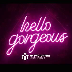 Neon Hello Gorgeous Led Neon Sign Decorative Lights Wall Decor