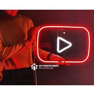 Neon Youtube  Logo Led Neon Sign Decorative Lights Wall Decor