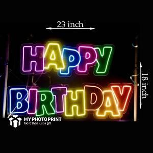 Neon Happy Birthday Led Neon Sign Decorative Lights Wall Decor