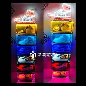 Customized Portable Shoe Rack Organizer/Shoe Box With Your Name & Shoe Name