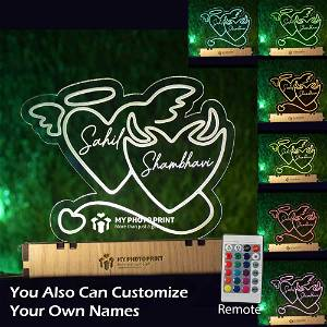Personalized Angel Devil 3D illusion LED Lamp with Color Changing Led and Remote #1959
