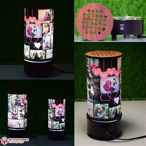 (Love) Mini Rotating Lamp Customized / you can send photos via  WhatsApp also after order or query on whatapp