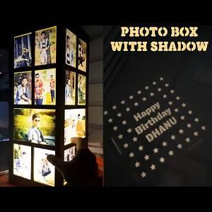 Multi Photos Big Shadow Box  Electric Night Lamp #215