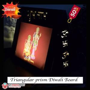 Triangular Prism Diwali Board