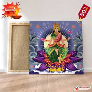 Maa Laxmi ji Photo Frame Canvas #1571 /Any Query Whatsapp Us After Order