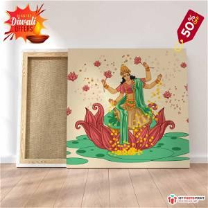 Maa Laxmi ji Photo Frame Canvas #1568 /Any Query Whatsapp Us After Order