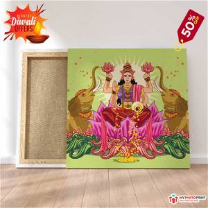 Maa Laxmi ji Photo Frame Canvas #1566 /Any Query Whatsapp Us After Order