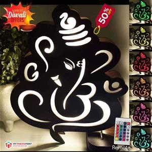Ganesh Religious board Multicolor Led and Remote #962