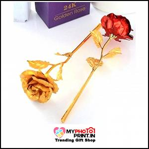 Combo Golden & Red Rose Both