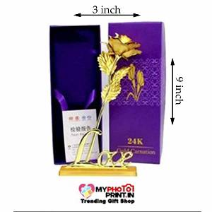 Golden Rose With Stand