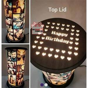 Customized Rotating Lamp / you can send photos via  WhatsApp also after order or query on whatapp