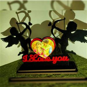 Customized Wooden Love Angel's