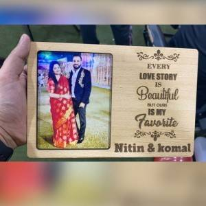 Customized Wooden Couple Stand With Your text & Photo