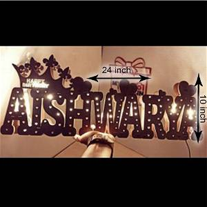Customized Your Name Board Multicolor Led and Remote #895