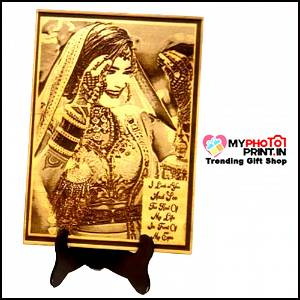 Wooden Engrave With your photo & Text #126