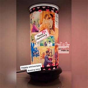(Anniversary) Rotating Lamp Customized / you can send photos via  WhatsApp also after order or query on whatapp