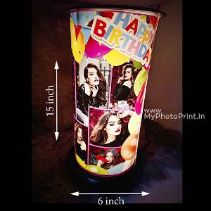 (Birthday) Rotating Lamp Customized / you can send photos via  WhatsApp also after order or query on whatapp