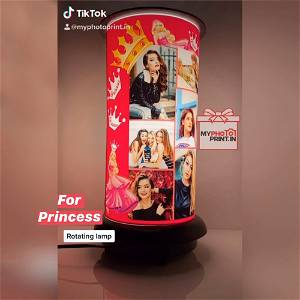 (Princess) Rotating Lamp Customized / you can send photos via  WhatsApp also after order or query on whatapp