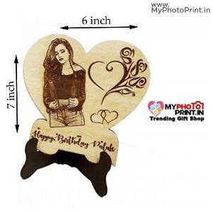 Wooden Engrave With your Photo And Text #127