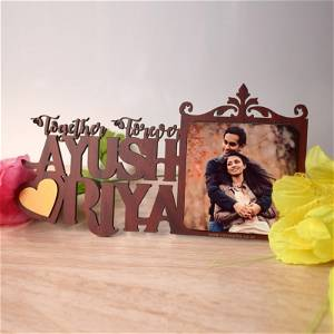 Customize Couple Name With Photo Standee