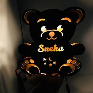 Customized teddy bear Name board with Multicolor Led and Remote #925