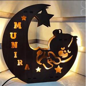 Panda Name Board With Lights Multicolor Led and Remote #928