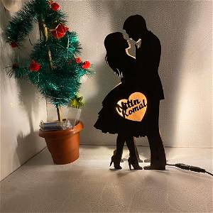 Couple Name Board With Multicolor Led and Remote #933