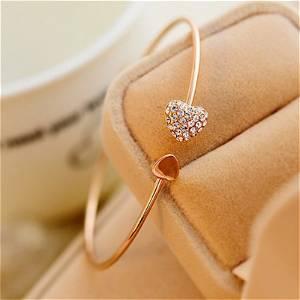 Gold Double Heart Bracelet Best Jewellery Gift - Universal Size