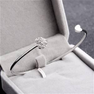 Silver Color Double Heart Bracelet Best Jewellery Gift - Universal Size