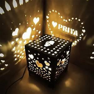 Royal Wooden Shadow Box Electric night Lamp