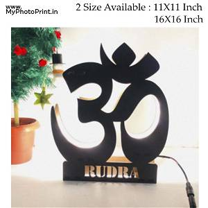 Om Religious name board Multicolor Led and Remote #960