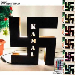 Swastik Religious name board Multicolor Led and Remote #961