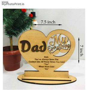 Wooden Customized Feelings Table Top For Dad,Mom,Brother,Sister,Wife,Love