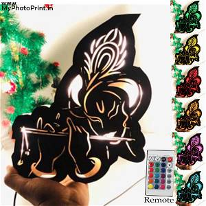 kanha ji Religious name board Multicolor Led and Remote #972