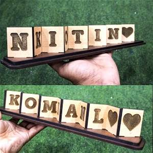 Customized Engraved Unique Double Side Flip Name
