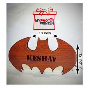 Batman Name Board With  7 Different Lights And Remote /Wooden LED Back lit Batman Wall Light