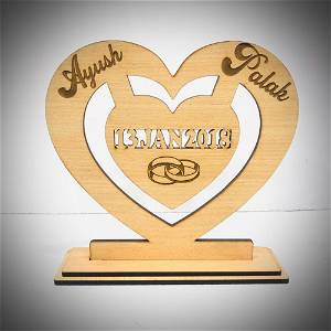 Customized Wooden Loving Date with Name