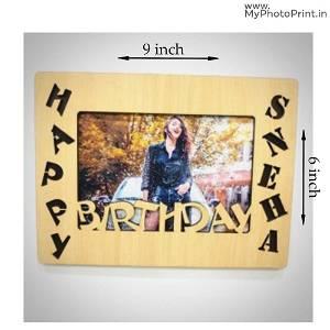 Customized birthday photo name frame