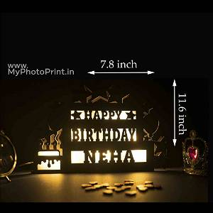 Personalised Special Birthday Gift Name Board With Any Name On it Birthday gift for her,him,girlfriend,boyfriend,mom,dad,child,kid with Multicolor Led and Remote #982