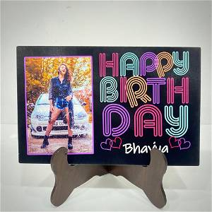 Customized Birthday Name Table Top With Your photo #990