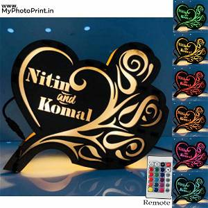 Customized Your Loving Name Board Multicolor Led and Remote #993
