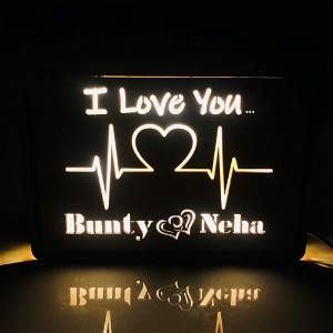Customized Heartbeat Led Box With Your Name #994